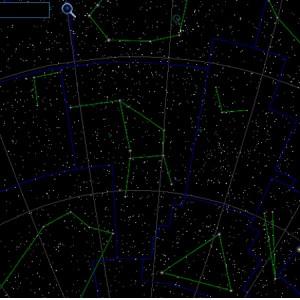 Созвездие-Жертвенник-на-небе